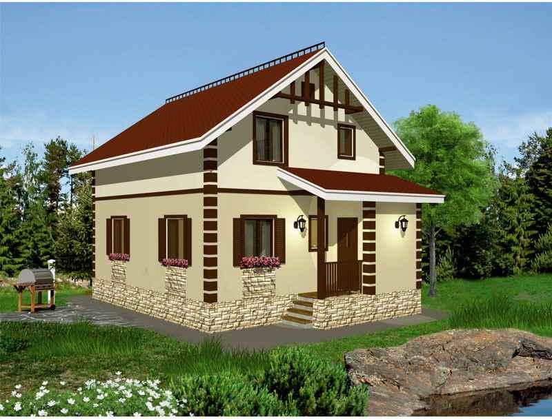 проект дома из пеноблока с фото