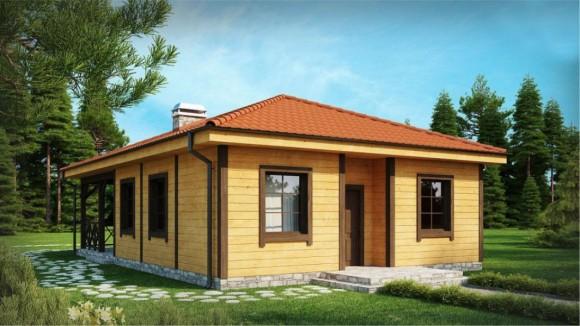 Каркасный дом КР-014