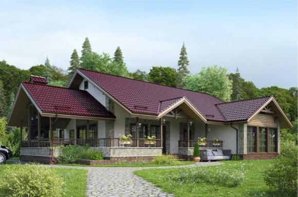 Каркасный дом КР-07