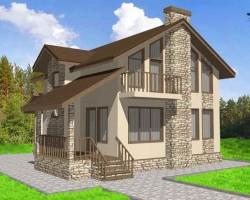 Каркасный дом КР-145