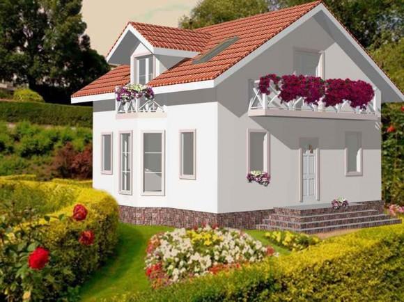 Каркасный дом КР-128