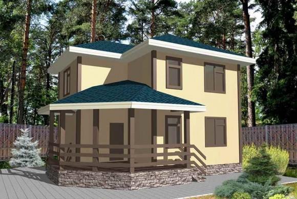 Каркасный дом КР-132