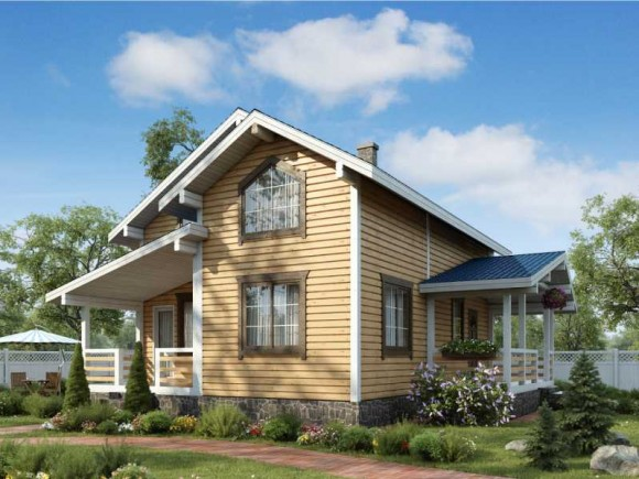 Каркасный дом КР-106
