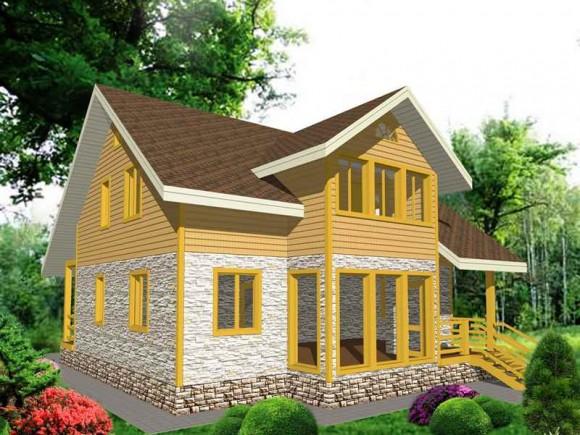 Каркасный дом КР-116