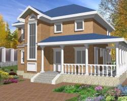 Каркасный дом КР-136