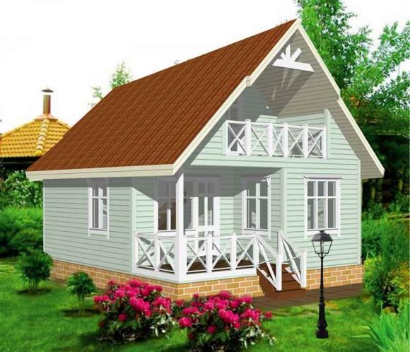 Каркасный дом КР-4