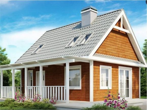 Каркасный дом КР-34