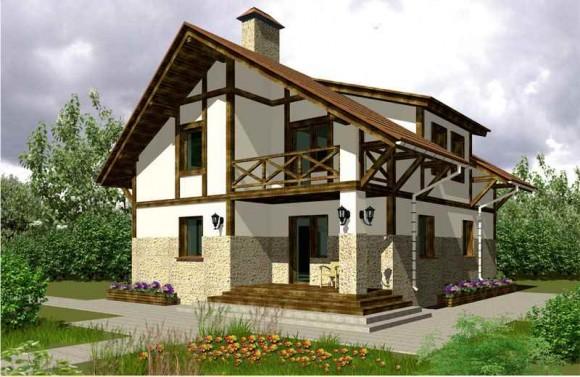 Каркасный дом КР-144