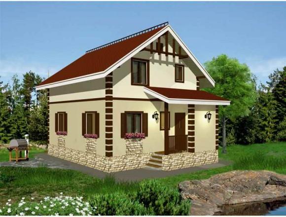 Каркасный дом КР-120